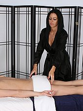 Aryana and Madison preparing for massage