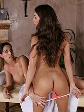 Kortney Kane strips down for some lesbian action