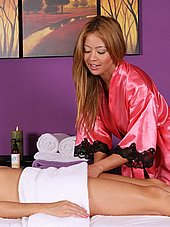 bigtit asian masseuse reaching under the towel