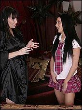 Sexy teen Stephanie in her schoolgirl uniform
